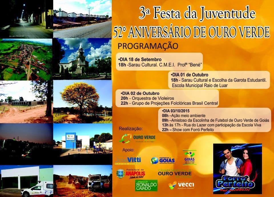 Cartaz Festa Aniversário da cidade