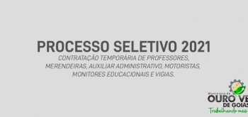 PROCESSO SELETIVO 2021 – RESULTADOS PRELIMINAR